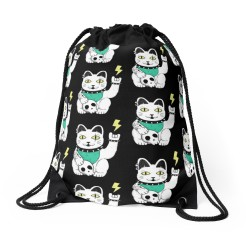 Metal Neko Dawstring Bag - Redbubble